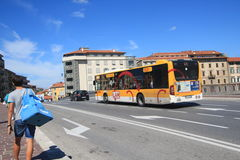 Gatasikt i Pisa, Italien Royaltyfri Fotografi