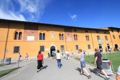 Gatasikt i Pisa, Italien Royaltyfria Bilder