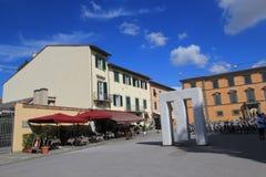 Gatasikt i Pisa, Italien Arkivbild