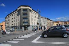 Gatasikt i Pisa, Italien Fotografering för Bildbyråer