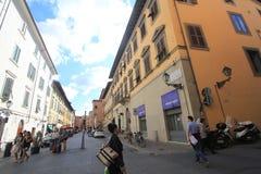 Gatasikt i Pisa, Italien Royaltyfri Foto