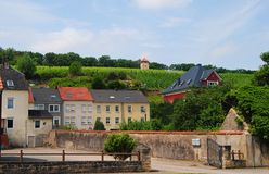Gatasikt i Schengen, Luxembourg Fotografering för Bildbyråer