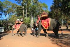 Gatasikt i Siem Reap Royaltyfri Bild