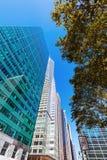 Gatasikt med skyskrapor i Manhattan, NYC Royaltyfria Foton