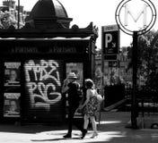 Gatasikt Paris Royaltyfri Fotografi