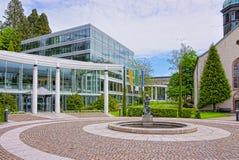 Gatasikt till Caracalla Spa byggnad i Baden-Baden Arkivbilder