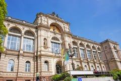 Gatasikt till Friedrichsbad Spa i Baden-Baden Royaltyfri Bild