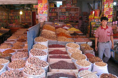 Gatastall i Kashgar Arkivfoto