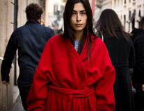 Gatastil: Milan Fashion Week Autumn /Winter 2015-16 Arkivbild