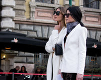 Gatastil: Milan Fashion Week Autumn /Winter 2015-16 Royaltyfria Bilder