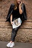 Gatastil under Milan Fashion Week för våren/sommar 2015 Royaltyfria Bilder