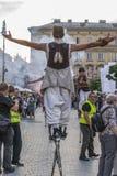 Gatateaterfestival Arkivbilder