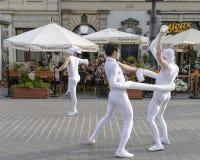 Gatateaterfestival i Krakow Arkivbild
