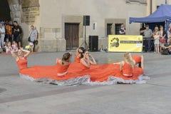 Gatateaterfestival i Krakow Royaltyfri Fotografi