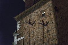 Gatateaterfestival i Krakow Fotografering för Bildbyråer
