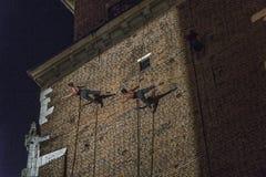 Gatateaterfestival i Krakow Arkivbilder