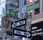 Gatatecken, Broadway, New York City Royaltyfri Bild