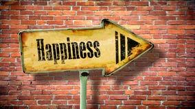 Gatatecken till lycka royaltyfri bild