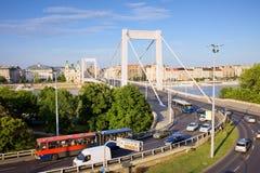Gatatrafik i Budapest Royaltyfri Fotografi
