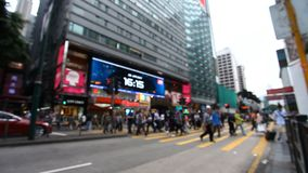 Gatatrafik i Hong Kong stock video