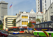 Gatatrafik på Lebuh Pasar Besar, Kuala Lumpur Fotografering för Bildbyråer