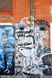 Gatauttryck: Grafitti i Fremantle, västra Australien Royaltyfri Foto
