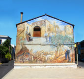 Gataväggmålning i San Sperate Fotografering för Bildbyråer