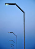 gatawhite för 8 eps isolerad lampor Royaltyfria Bilder