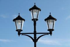 gatawhite för 8 eps isolerad lampor Arkivfoto