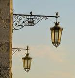 gatawhite för 8 eps isolerad lampor Royaltyfri Foto