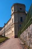 gatchina宫殿彼得斯堡st 沿一个私有庭院的路 免版税库存照片