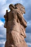 Gatchina,俄罗斯- 2016年4月16日:巨大爱国战争的纪念品 免版税库存照片