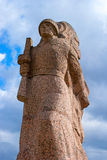 Gatchina,俄罗斯- 2016年4月16日:巨大爱国战争的纪念品 库存照片