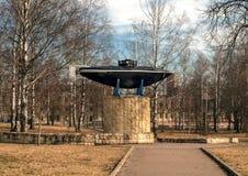 Gatchina Памятник первой русской подводной лодки Стоковые Изображения