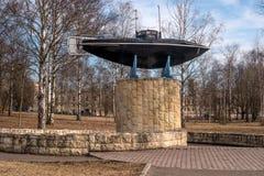 Gatchina Памятник первой русской подводной лодки Стоковое Изображение RF