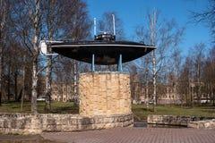 Gatchina, Россия - 3-ье мая 2017: Памятник первой русской подводной лодки Стоковая Фотография RF