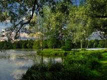 Gatchina湖 免版税库存图片