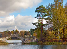 Gatchina. Autumn in palace park.Russia. Royalty Free Stock Images