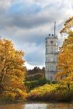 Gatchina,bright autumn tree in park near a palace Stock Photo