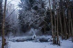 Gatchina geysers stock photo