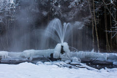 Gatchina geysers. Russia, Leningrad region, village Korpikovo Stock Images