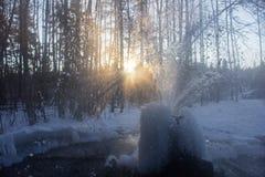 Gatchina geysers stock images