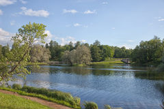 Gatchina Großer Park lizenzfreies stockfoto