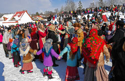 Gatchina, Leningrad region, RUSSIA - March 5, 2011: Maslenitsa. a traditional spring holiday in Russia. Stock Photo