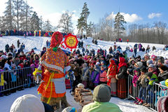 Gatchina, Leningrad region, RUSSIA - March 5, 2011: Maslenitsa. a traditional spring holiday in Russia. Royalty Free Stock Photo