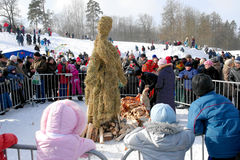 Gatchina, Leningrad region, RUSSIA - March 5, 2011: Maslenitsa. a traditional spring holiday in Russia. royalty free stock photos