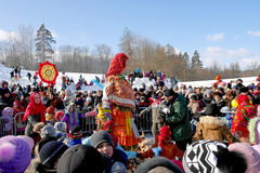 Gatchina, Leningrad region, Russia - March 5, 2011: Maslenitsa. a traditional spring holiday at the Russian peoples. Royalty Free Stock Photos