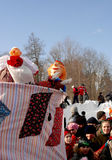 Gatchina, Leningrad region, Russia - March 5, 2011: Maslenitsa. a traditional spring holiday at the Russian peoples. Royalty Free Stock Images