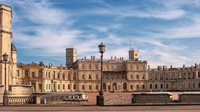 Gatchina Palace. Palace Square and the main entrance. Royalty Free Stock Photo