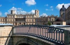 Gatchina Palace. Palace Square and the main entrance. Royalty Free Stock Photography